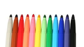 Kleur gevoelde pennen stock fotografie