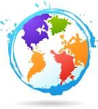 Kleur glob stock illustratie