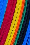 Kleur golf plastic bladen, eigenschapraad. Stock Foto's