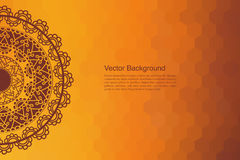 Kleur Henna Mandala Background Royalty-vrije Stock Fotografie