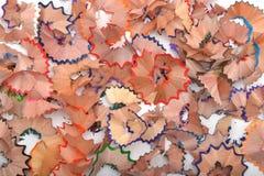 Kleur het scheren van potloden natuurlijke kleur en texturen Stock Foto's