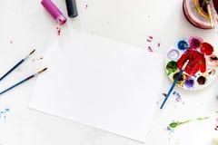 Kleur het schilderen is een kunst om kleur te mengen Royalty-vrije Stock Foto