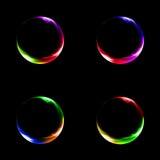 Kleur licht embleem Stock Foto's