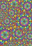 Kleur meditatiemandala vector illustratie