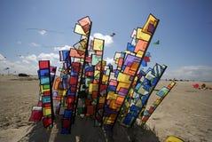 Kleur op het strand Stock Afbeeldingen