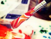 Kleur oranje me Stock Fotografie