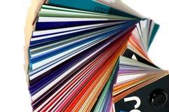 Kleur pallet stock foto's