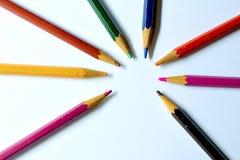 Kleur pencils2 Stock Foto