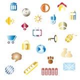 Kleur pictogrammen Royalty-vrije Stock Afbeeldingen