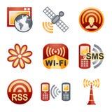 Kleur pictogrammen voor website 30 Royalty-vrije Stock Afbeelding