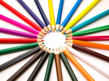 Kleur potloden Royalty-vrije Stock Afbeeldingen