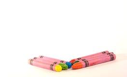 Kleur potloden Stock Afbeeldingen