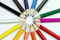 Kleur potlood Royalty-vrije Stock Foto's