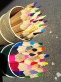 Kleur potlood royalty-vrije stock afbeeldingen