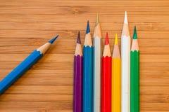 Kleur potlood Stock Afbeeldingen