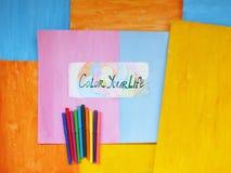 Kleur uw leven, positief concept Stock Foto