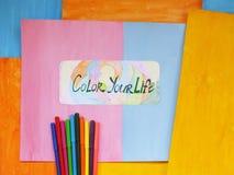 Kleur uw leven, positief concept Royalty-vrije Stock Fotografie