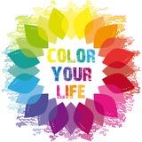 Kleur Uw Leven Wellnesswiel Royalty-vrije Stock Foto's