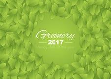 Kleur van de abstracte achtergrond van het jaar 2017 Groen Royalty-vrije Stock Fotografie