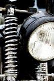 Kleur van een uitstekende motorfiets voorschokbreker die wordt geschoten royalty-vrije stock afbeelding