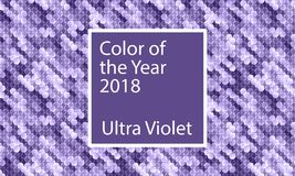Kleur van het jaar 2018 Ultraviolette abstracte digitale achtergrond Stock Foto's
