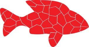 Kleur van rood Eenzame Vissen stock illustratie