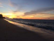Kleur van zonsondergang stock foto's