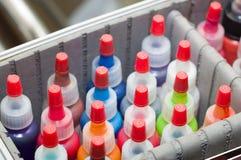 Kleur voor een permanente make-up Stock Foto