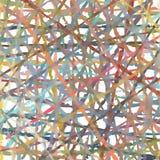 Kleurde het manueel getrokken rustieke strepenpatroon digitaal, overlappend, op witte basis Royalty-vrije Stock Foto