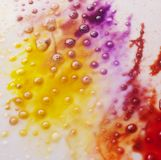 Kleuren abstracte achtergrondinkt verschillende kleur Stock Foto's