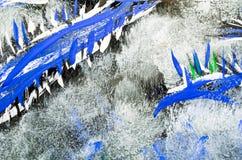 Kleuren abstracte die tekening op glas dichte omhooggaand wordt geschilderd stock afbeeldingen