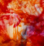 Kleuren abstracte inkt als achtergrond in water Stock Fotografie