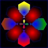 Kleuren abstracte samenstelling met ballen en zwakke verward Stock Foto's