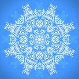 Kleuren cirkelpatroon Ronde caleidoscoop van bloemenelementen Stock Fotografie