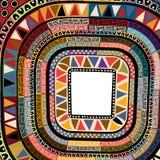 Kleuren decoratief kader Royalty-vrije Stock Afbeelding
