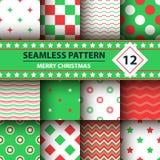 Kleuren eenvoudige vorm, Vrolijk Kerstmispatroon stock illustratie