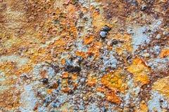 Kleuren en Oppervlaktetextuur van Rusty Metal Royalty-vrije Stock Foto
