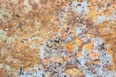 Kleuren en Oppervlaktetextuur van Rusty Metal Royalty-vrije Stock Afbeelding