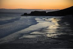 Kleuren en zonsopgang in Asturias Spanje Royalty-vrije Stock Afbeelding