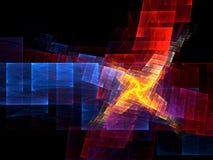 Kleuren - Fractal Art. vector illustratie