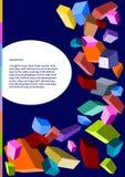 Kleuren geometrische vormen stock illustratie