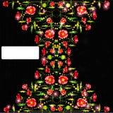 Kleuren glanzende papaver op zwarte achtergrond Royalty-vrije Stock Fotografie