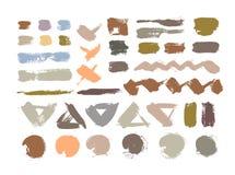 Kleuren grungy abstracte met de hand geschilderde achtergrond Borstelontwerp Royalty-vrije Stock Fotografie