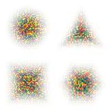 Kleuren Halftone Vormen Stock Afbeelding