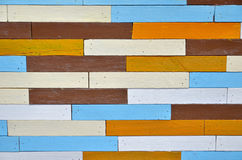 Kleuren houten muur Stock Fotografie