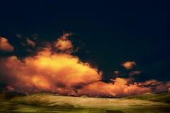 Kleuren infrarood landschap stock afbeelding