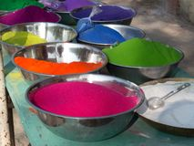 Kleuren kleur-Rangoli voor diwalifestival stock foto's