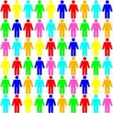 Kleuren naadloos patroon van de mensen vector illustratie
