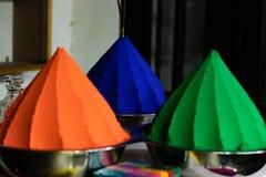 Kleuren oranje groen en blauw royalty-vrije stock afbeelding