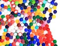 Kleuren plastic kappen stock foto